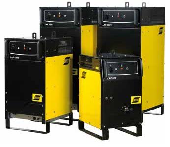 Źródła prądu LAF1 do sterownika PEK nowe i używane na stanie 28 różnych źródeł do zautomatyzowanego spawania ESAB